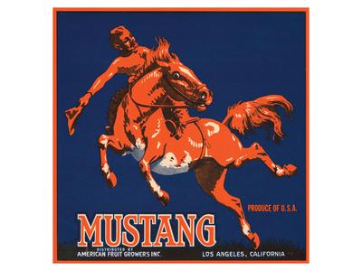 Mustang, American Fruit Growers Posters