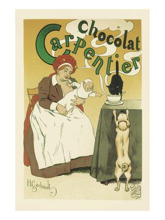 Chocolat Carpentier Prints by Henri Gerbault