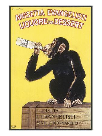 Anisetta Evangelisti, Liquore da Dessert Posters by Carlo Biscaretti