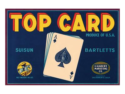 Top Card Suisun Bartletts Prints