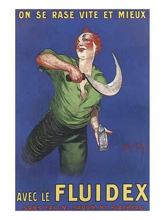 Fluidex, on Se Rase Vite Et Mieux Prints by Jean D' Ylen