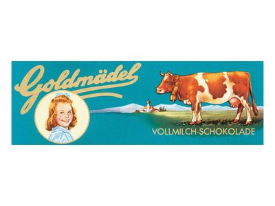 Goldmadel Vollmilch Schokolade Posters
