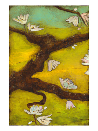 Magnolia Blossoms with Nest I Posters by Anne Hempel
