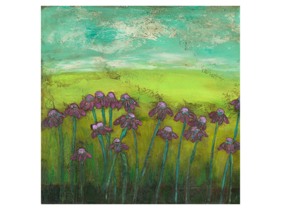 Cone Flowers on Lime Hill I Art by Anne Hempel