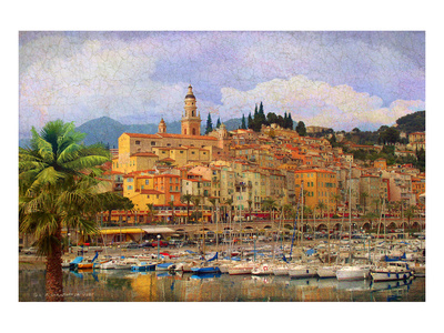 Marina at Monacco Prints by Chris Vest