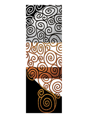 Twisting Whirly Swirls after Klimt Prints by Michael Timmons