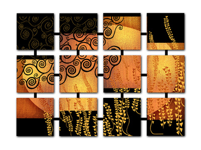 Networked Klimt Print by Michael Timmons