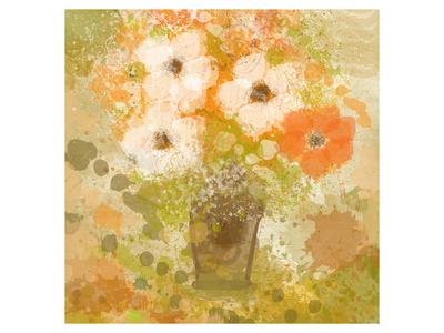 Yellow Flowers in Vase Prints by Irena Orlov