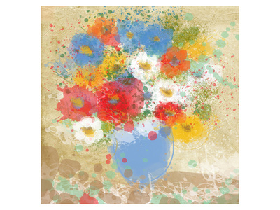 Bright Flowers Poster by Irena Orlov