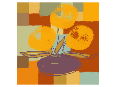 Vase with Yellow Flowers Art by  Yashna