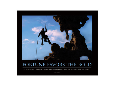 Fortune Favors the Bold ll Art by  SM Design