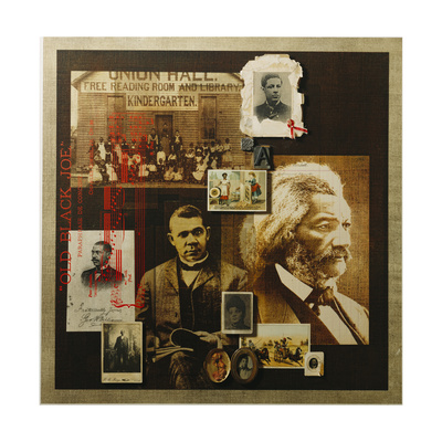 A Collage Features Portraits of Famous African Americans Giclee Print by Fred Otnes