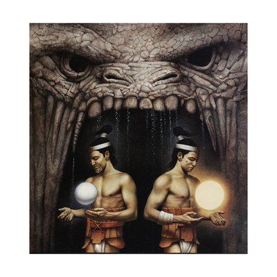 Twin Brothers from the Mayan Legend of Creation Giclee Print by John Jude Palencar