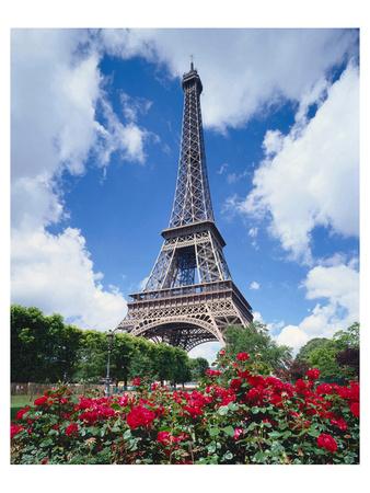Eiffel tower in Paris, France Prints