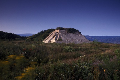 A Partially Excavated Mound at Monte Alban Photographic Print by Macduff Everton