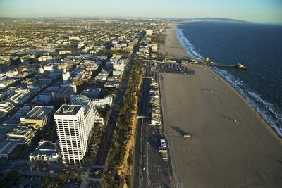 The Coastline of Santa Monica Photographic Print by Steve Winter