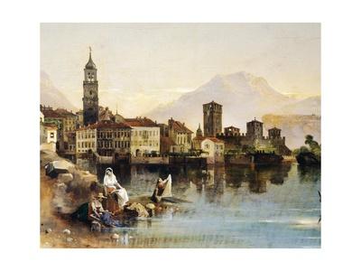 View of Riva Del Garda Giclee Print by Amedeo Modigliani