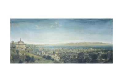Panorama of the City and the Strait of Messina, 1858 Giclee Print by Carlo Brancaccio