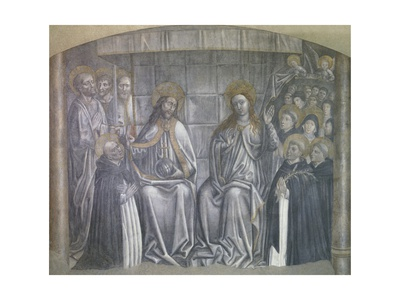 Christ Giving World to Saint Dominic in Presence of Virgin Mary Giclee Print by Carlo Brancaccio