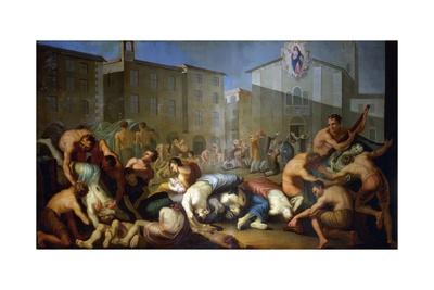 The Plague of 1630 Giclee Print by Luigi Vanvitelli