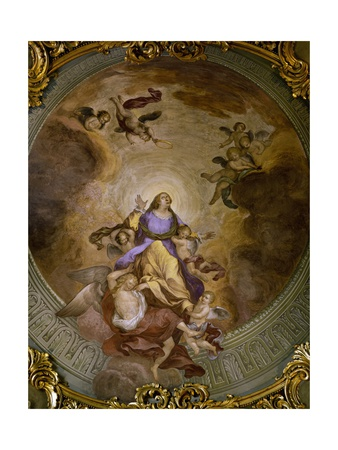 Ceiling Painting of Saint Catherine's Chapel,1830 Giclee Print by Francesco Borromini