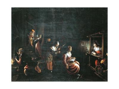 The Weavers Giclee Print by Francesco Borromini