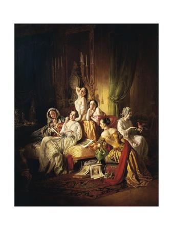 Girls after the Dance, 1850 Giclee Print by Juan de Flandes
