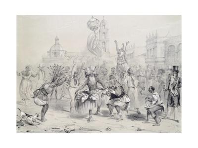 Dia De Reyes in Havana, Cuba 19th Century Engraving Giclee Print by Frederick George Cotman