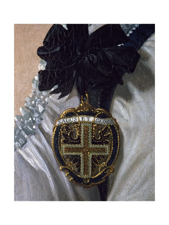 Coat of Arms, Detail from the Portrait of Maria Luisa of Bourbon Giclee Print by Frank Feller