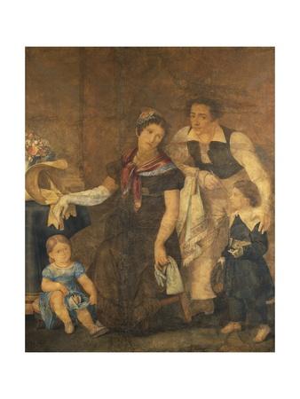 Portrait of the Ciardi Family Giclee Print by Guglielmo Ciardi