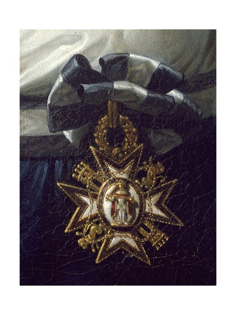 Cross of Honor, Detail from Portrait of Maria Luisa of Bourbon Giclee Print by Frank Feller
