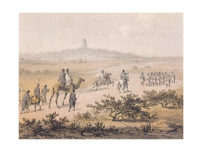 Arrival in Tumbuctu from Travels and Discoveries in North and Central Africa, 1861 Giclee Print by Heinrich Schliemann