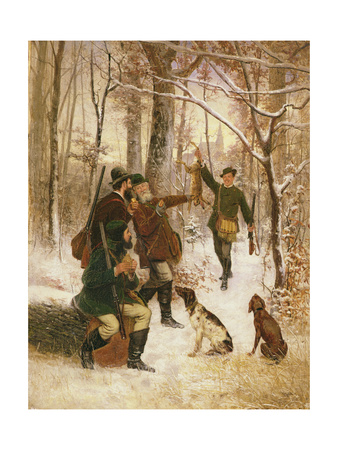 The Lucky Hunter Giclee Print by Willem And Joan Blaeu