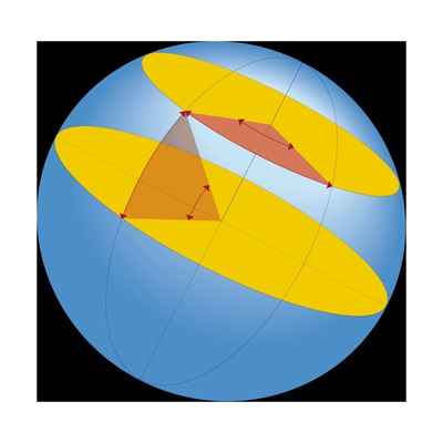 Diagram of Geographic Coordinate System of Earth Giclee Print
