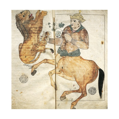 Astrological Image: a Centaur and a Lion Giclee Print