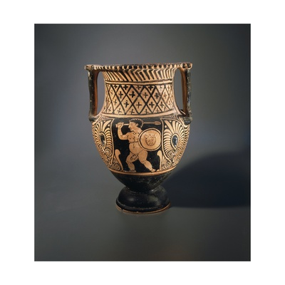 Column-Krater Depicting Pygmy Fighting with Circular Shield Giclee Print