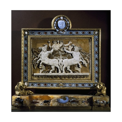 The Triumph of Bacchus, Cameo in Glass Paste, Framed in 1780 by Luigi Valadier with Antique Items Giclee Print