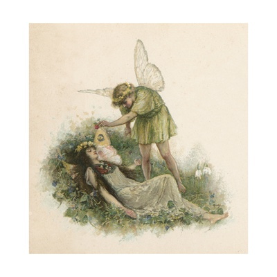 Titania and Oberon from Midsummer Night's Dream Giclee Print by Walter Stanley Paget
