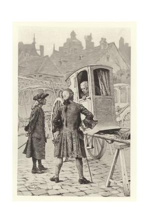 Preface in the Desobligeant Giclee Print by Maurice Leloir
