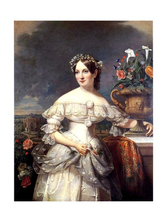The Bride, Serena Mayer Franklin, 1838 Giclee Print by Jacob Eichholtz