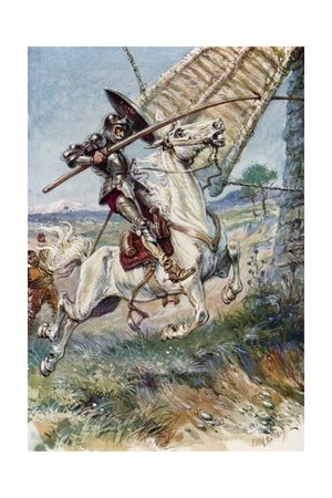 Don Quixote Running His Lance into the Sail Giclee Print by Paul Hardy
