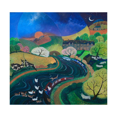 Moored for the Night, 2013 Giclee Print by Lisa Graa Jensen