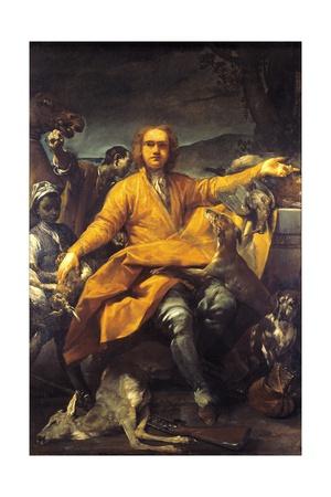 Portrait of Hunter Giclee Print by Giuseppe Maria Crespi