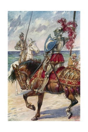 The Knight of the White Moon Giclee Print by Paul Hardy