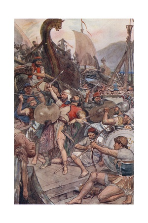 Death of the Persian Admiral at Salamis Giclee Print by William Rainey