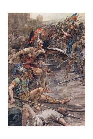 Epaminondas Defending Pelopidas Giclee Print by William Rainey