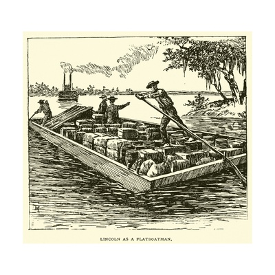 Lincoln as a Flatboatman Giclee Print