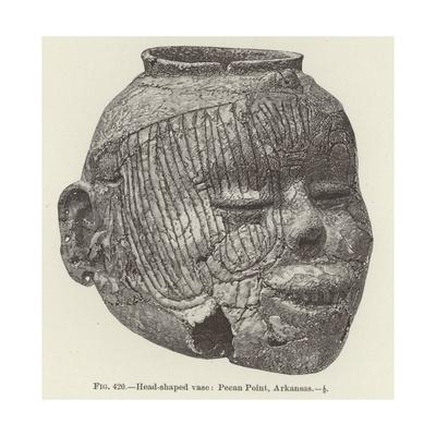 Head-Shaped Vase: Pecan Point, Arkansas Giclee Print