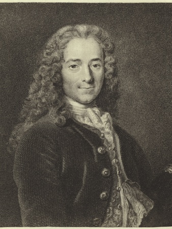 Voltaire Photographic Print by Nicholas De Largilliere