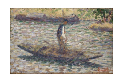 A Fisherman, C.1884 Giclee Print by Georges Seurat